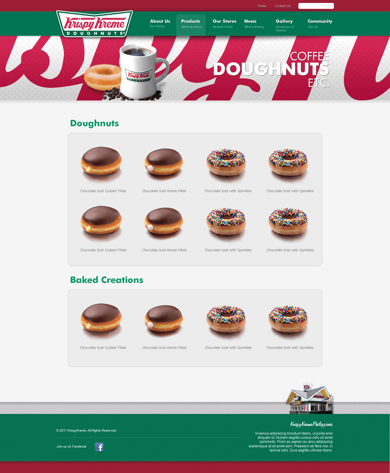 Krispy Kreme: products